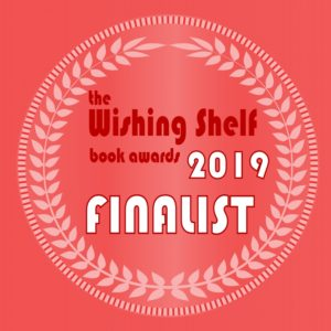 Wishing Shelf Finalist Book Award Medal Red