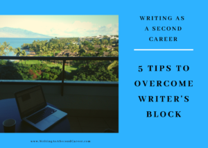 5 Tips To Overcome Writer's Block graphic